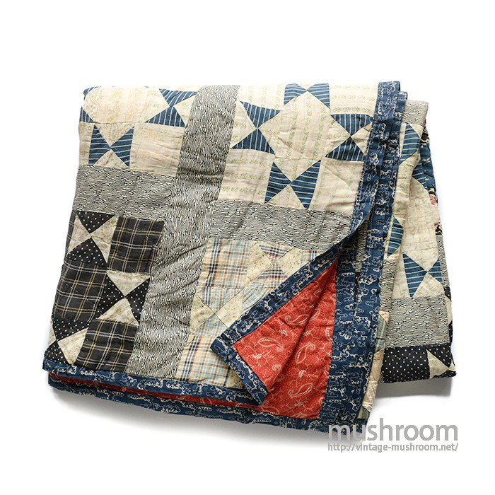 OLD CALICO PATCHWORK QUILT