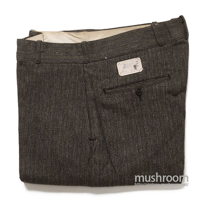 UNKNOWN STRIPE COVERT WORK TROUSER( 30/32/DEADSTOCK )
