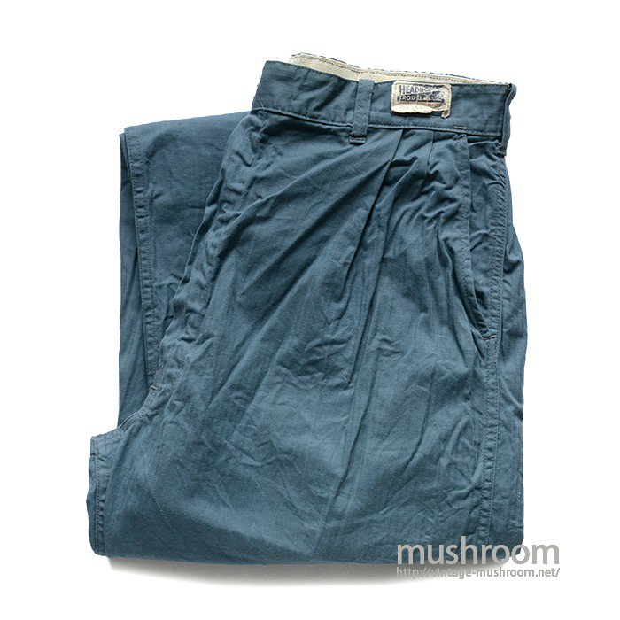 HEAD LIGHT HBT WORK TROUSER( MINT )