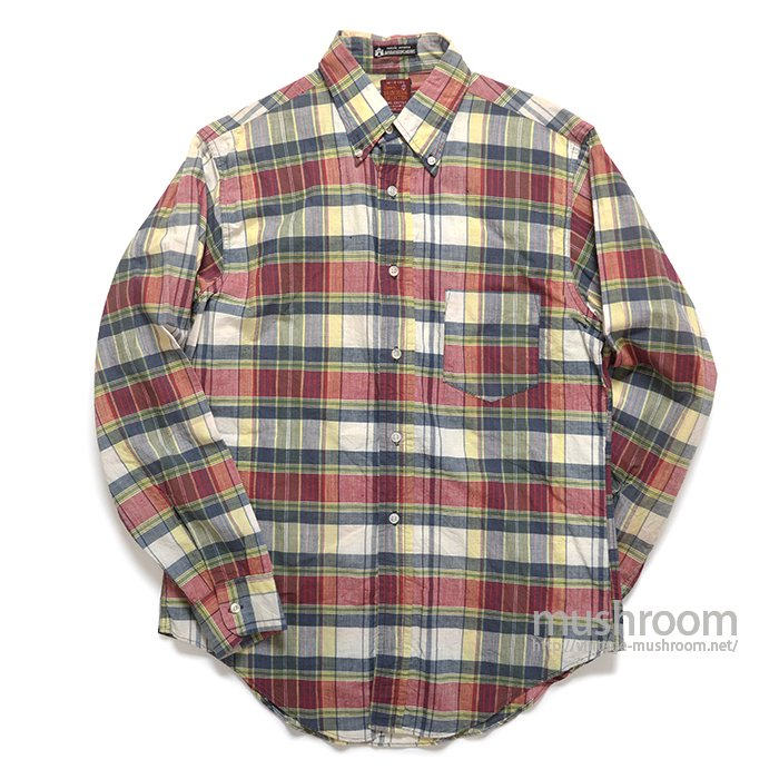 SEARS PLAID MADRAS COTTON BD SHIRT