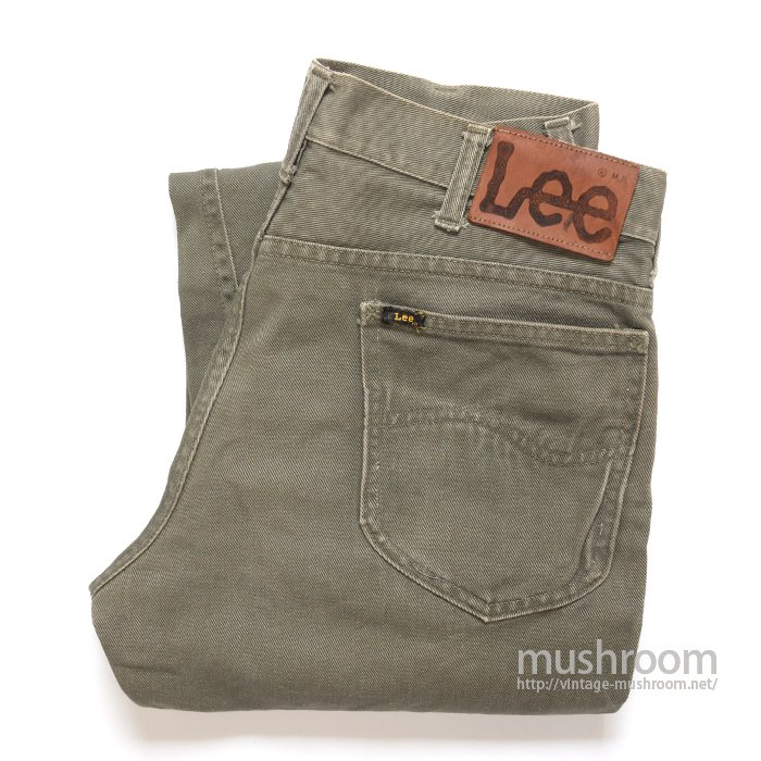Lee COTTON TWILL PANTS