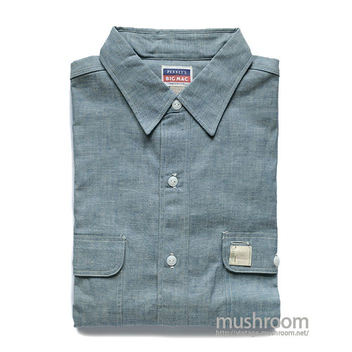 BIG MAC CHAMBRAY WORK SHIRT( 16H/DEADSTOCK )