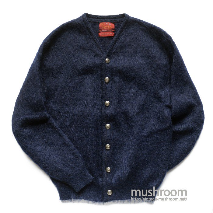SEARS NAVY BLUE MOHAIR CARDIGAN( M/MINT )
