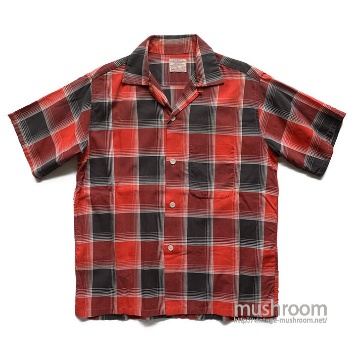 TOWNCRAFT PLAID COTTON S/S SHIRT