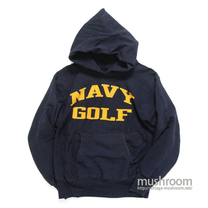 CHAMPION NAVY-GOLF REVERSE WEAVE HOODY