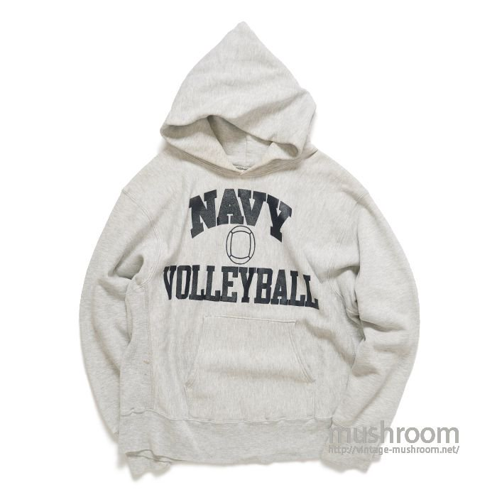 CHAMPION NAVY-VOLLEY BALL REVERSE WEAVE HOODY