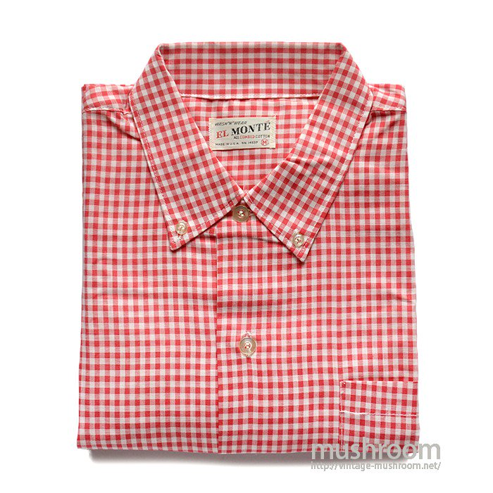 EL MONTE GINGHAM CHECK LONG SLEEVE BD SHIRT( M/DEADSTOCK )