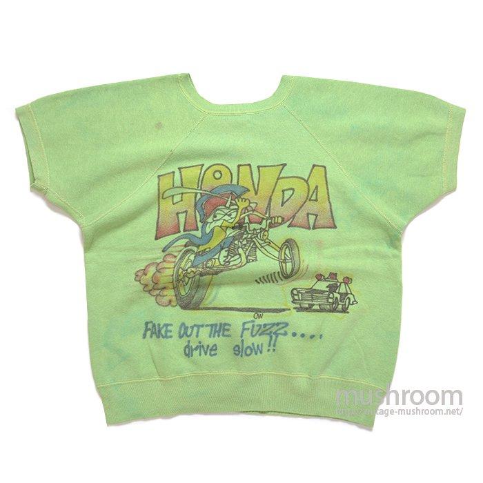 """HONDA"" AIR BRUSH-PRINTED SWEAT SHIRT"