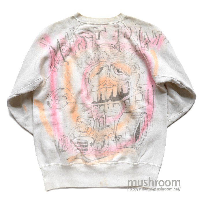 """MOTHER IN RAW"" AIR BRUSH-PRINTED SWEAT SHIRT"