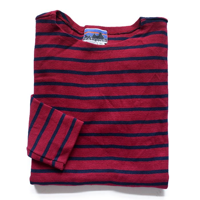 PATAGONIA BORDER STRIPE L/S COTTON T-SHIRT( XL/DEAD )