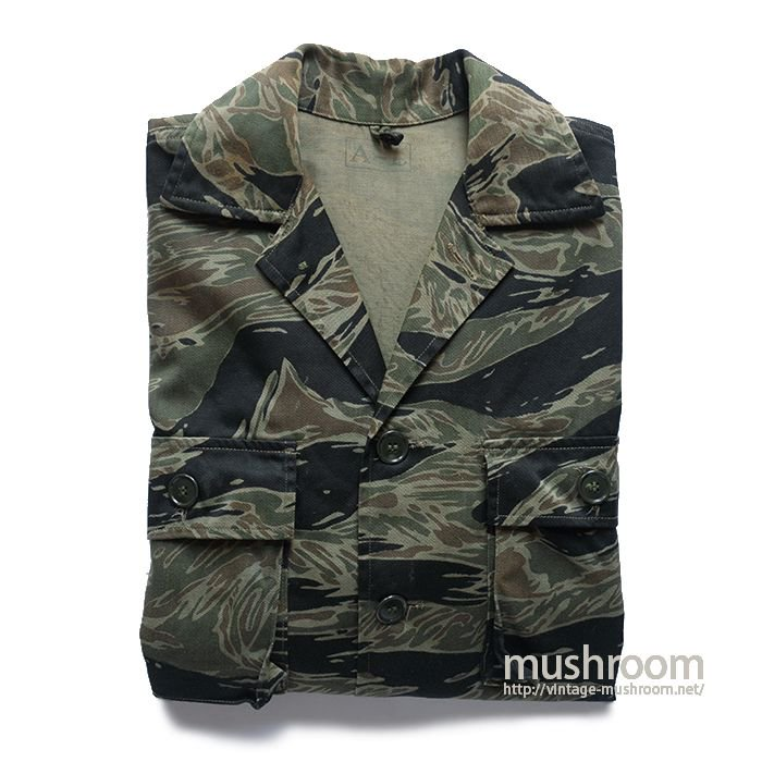 VIET-NAM TIGER STRIPE COTTON UTILITY JACKET( A-L/DEAD )