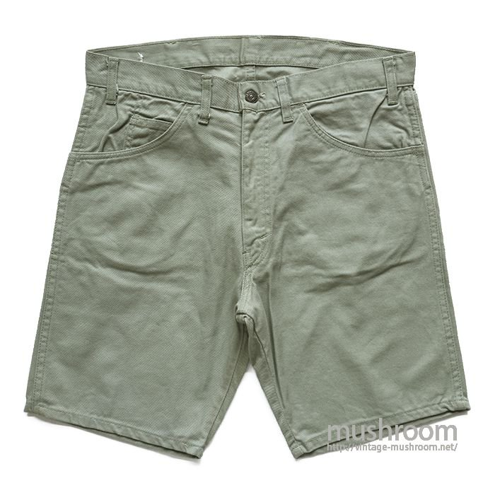 LEVI'S BIGE COTTON TWILL SHORTS( ONE-WASHED )