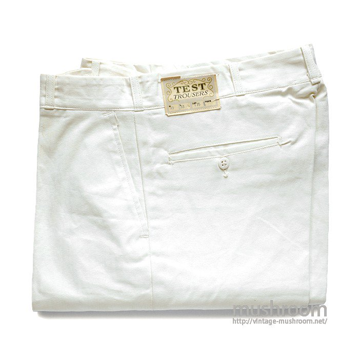 TEST WHITE COTTON WORK TROUSERS( 33/33/DEAD )