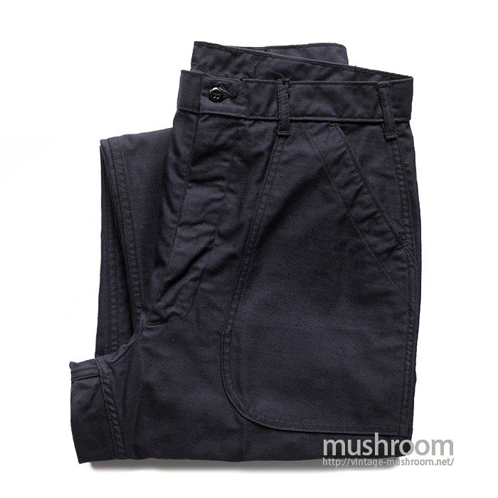 U.S.NAVY UTILITY DARK BLUE COTTON TROUSERS( 33R/MINT )