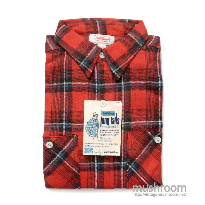 POWR HOUSE PLAID FLANNEL SHIRT( L/DEADSTOCK )