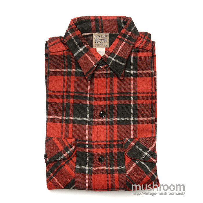 SWEET-ORR PLAID FLANNEL SHIRT( 15/DEADSTOCK )