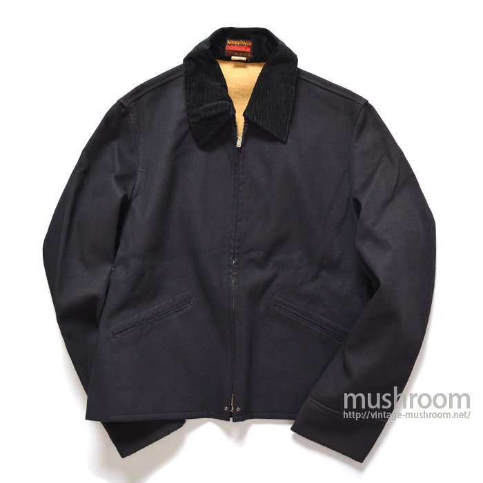FIRE BRAND BLACK COTTON SPORTS JACKET( 40/DEADSTOCK )