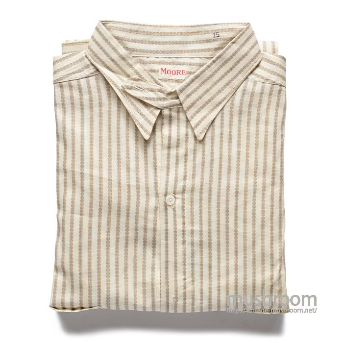 MOORE STRIPE COTTON SHIRT WITH CHINSTRAP( 15/DEAD )