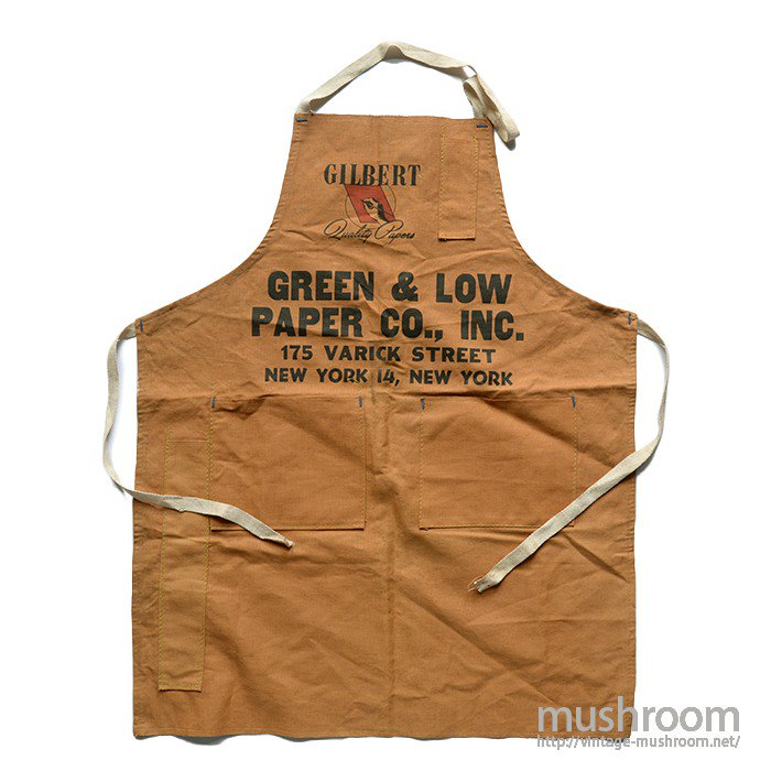 GREEN&LOW PAPER COMPANY WORK APRON