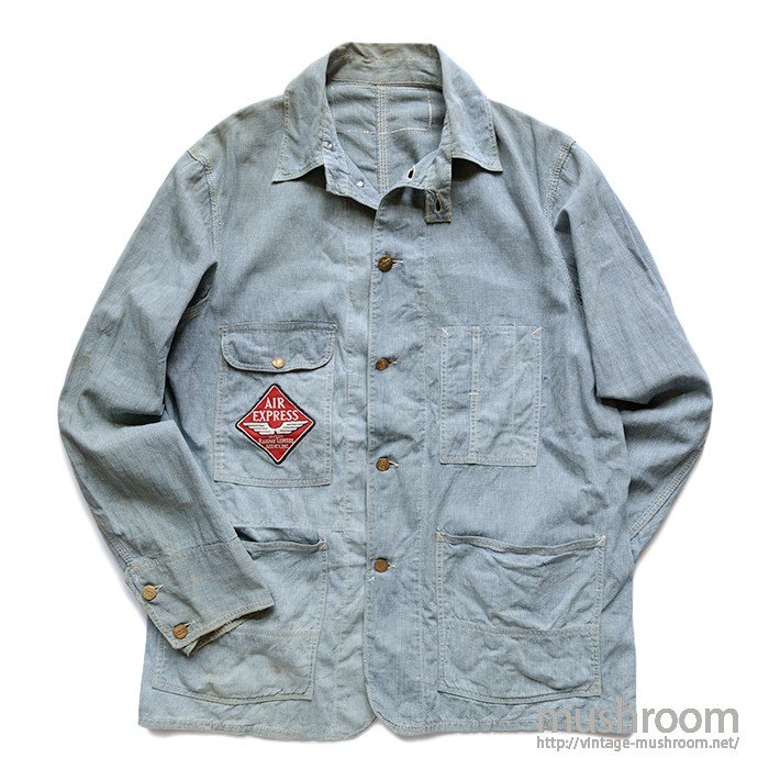 BURLINGTON OVERALL PINCHECK RAILROAD JACKET