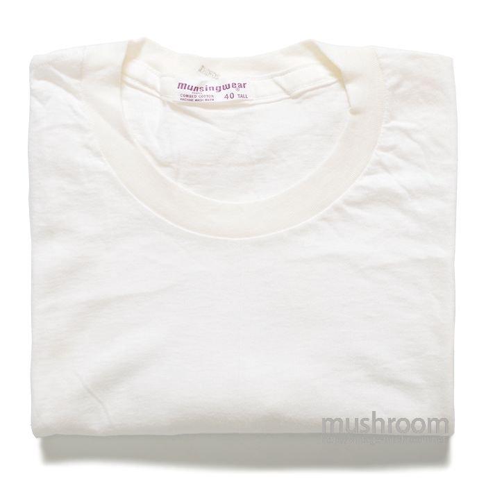 MUNSINGWEAR WHITE COTTON T-SHIRT ( 40L/DEADSTOCK )