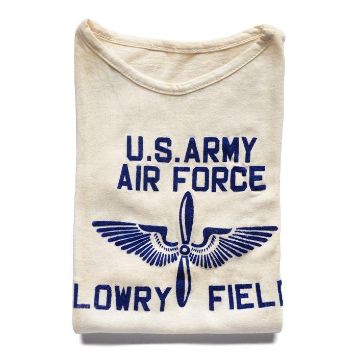 U.S.ARMY AIRFORCE FLOCK PRINT TEE( 36/DEAD )