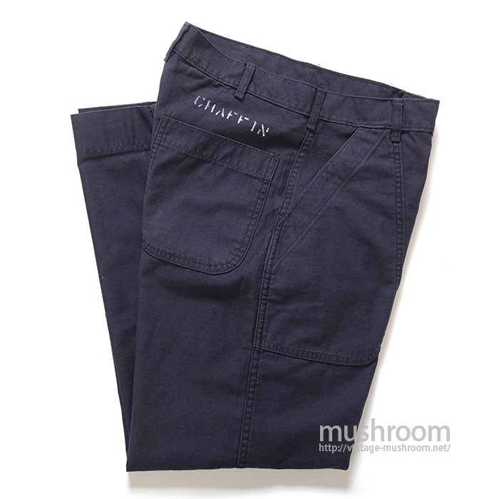 U.S.NAVY UTILITY DARK BLUE COTTON TROUSERS