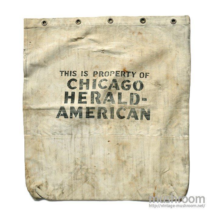 CHICAGO HERALD AMERICAN NEWSPAPER BAG( HUGE SIZE )