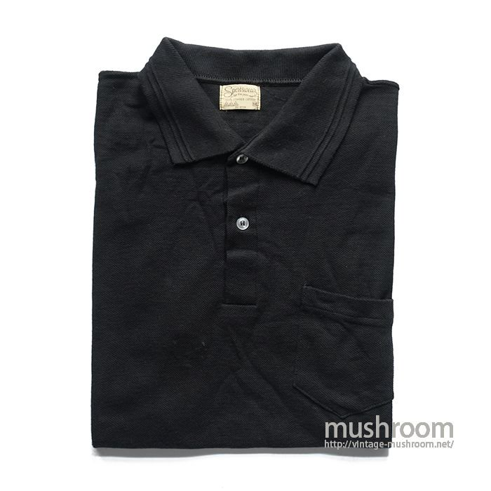 SPORTSWEAR BLACK POLO SHIRT( M/DEADSTOCK )
