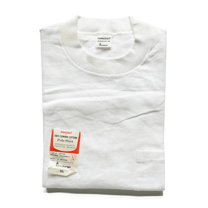 TOWNCRAFT WHITE POCKET T-SHIRT( 40-42/DEADSTOCK )