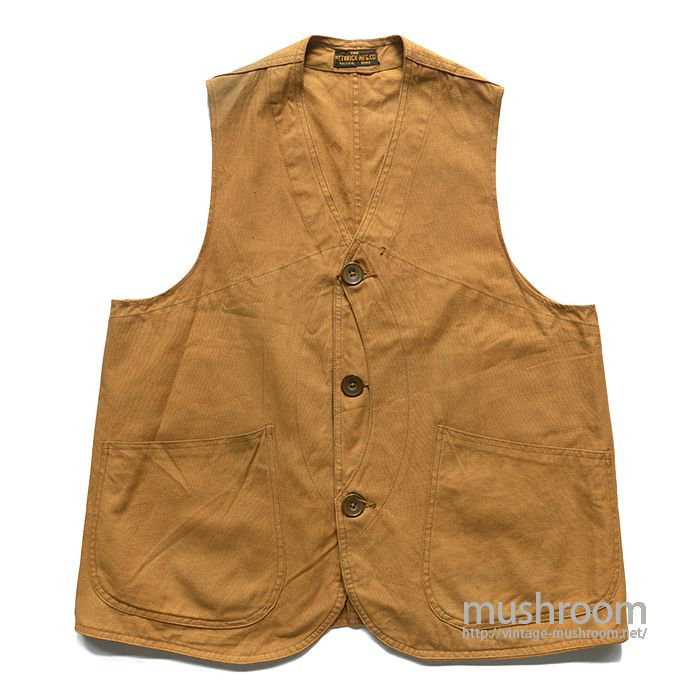 THE HETRICK MFG CO CANVAS HUNTING VEST( MINT )