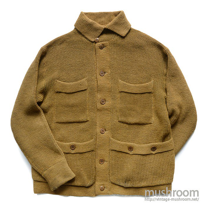 OLD FOUR POCKET KNIT JACKET