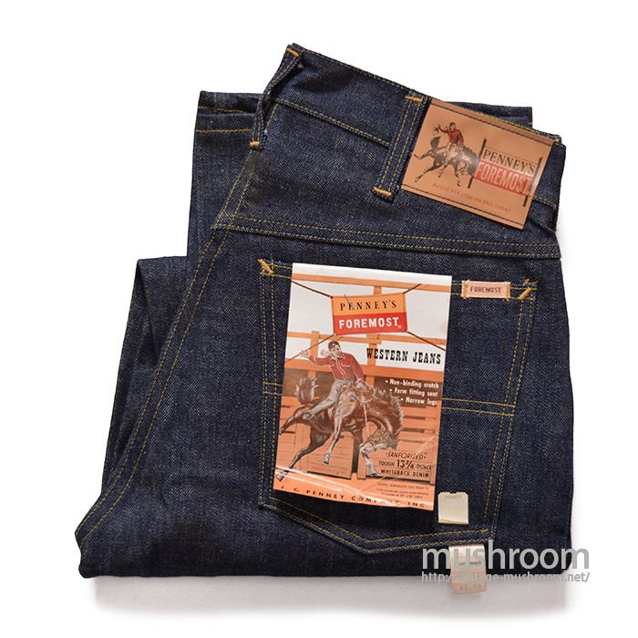 PENNEY'S FOREMOST 5POCKET JEANS( 31/30/DEADSTOCK )
