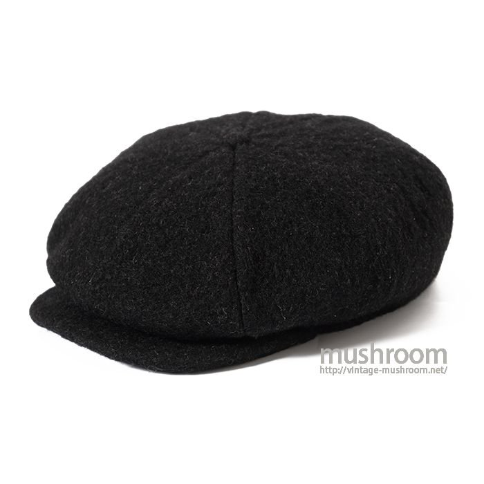 OLD BLACK WOOL NEWSBOY HAT( MAYBE..DEADSTOCK )