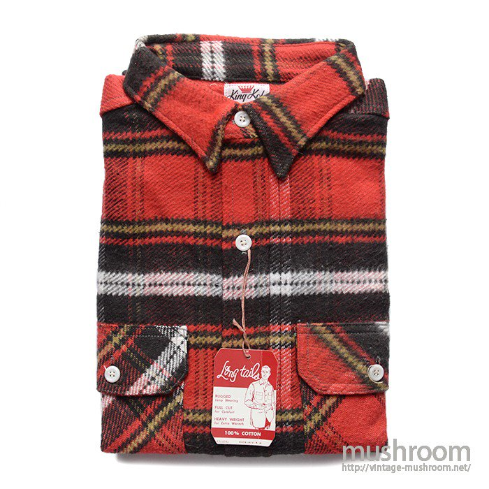 KING KOLE PLAID FLANNEL SHIRT(16H/DEADSTOCK )