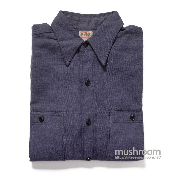5BROTHER FLANNEL WORK SHIRT( 14H/DEADSTOCK )