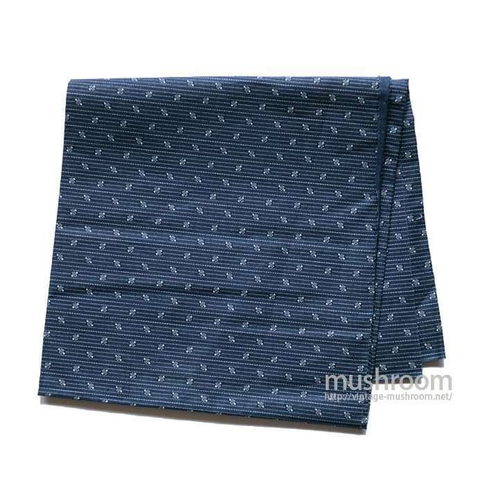 DARK INDIGO STRIPE CALICO FABRIC( DEADSTOCK )