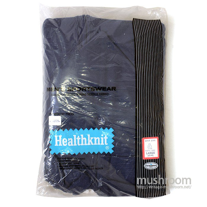 HEALTHKNIT FULL-ZIP SWEAT HOODY( M/NAVY/DEADSTOCK )