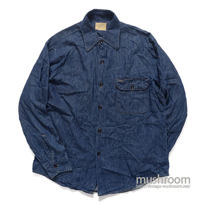 OLD DENIM WORK SHIRT