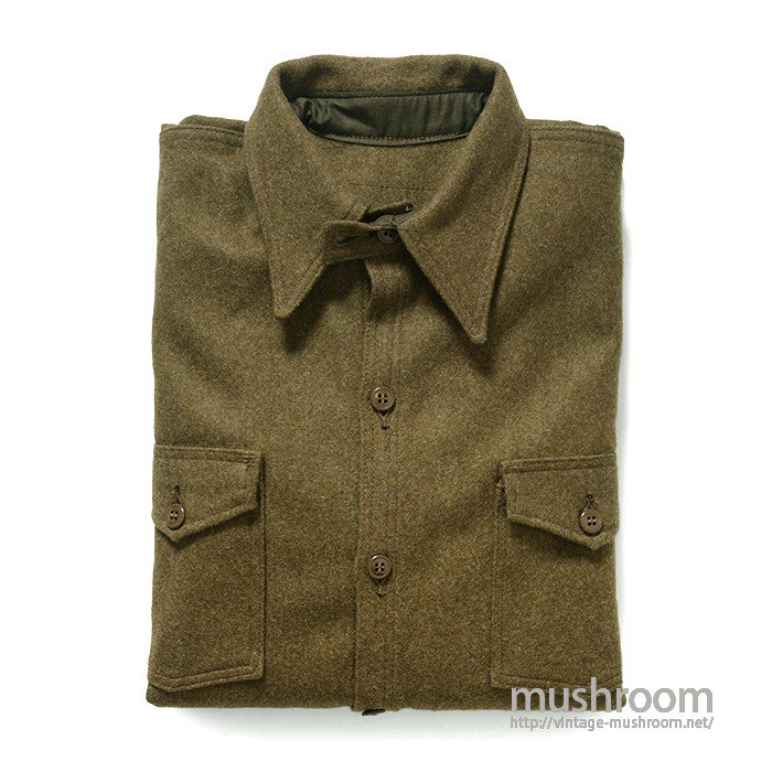 UNKNOWN WOOL SHIRT WITH CHINSTRAP( DEADSTOCK )