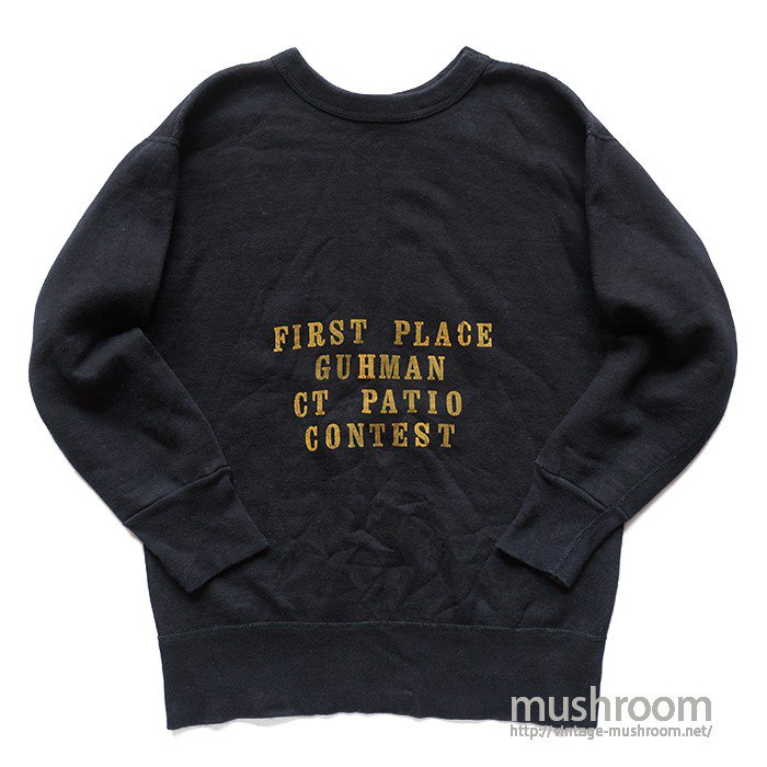 FRUIT OF THE LOOM BLACK COTTON SWEAT SHIRT( L/MINT )