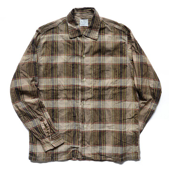OLD PLAID COTTON BOX SHIRT( M/MINT )