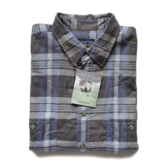 PATAGONIA PLAD L/S COTTON SHIRT( M/DEADSTOCK )