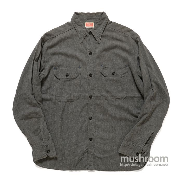 PIONEER BLACK CHAMBRAY WORK SHIRT