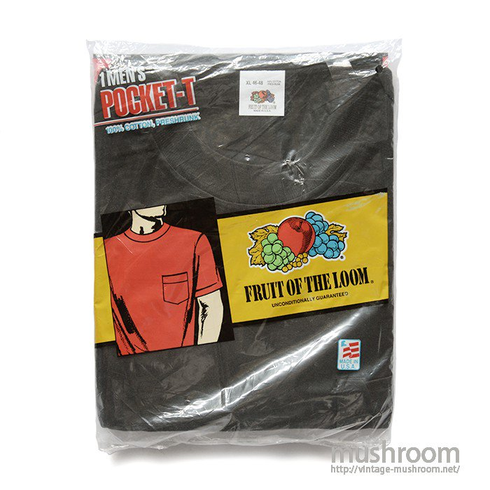 FRUIT OF THE LOOM POCKET T-SHIRT( XL/DEADSTOCK )