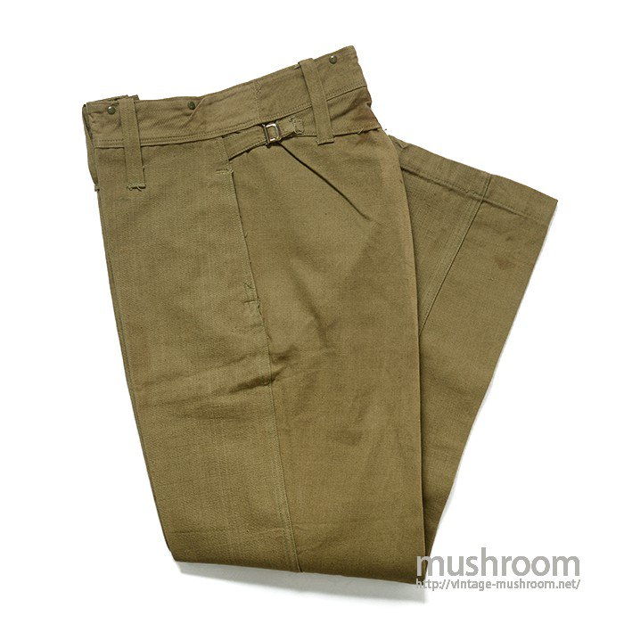 WW2 CANADIAN ARMY COTTON TROUSERS( PEABODYS/32-32 )