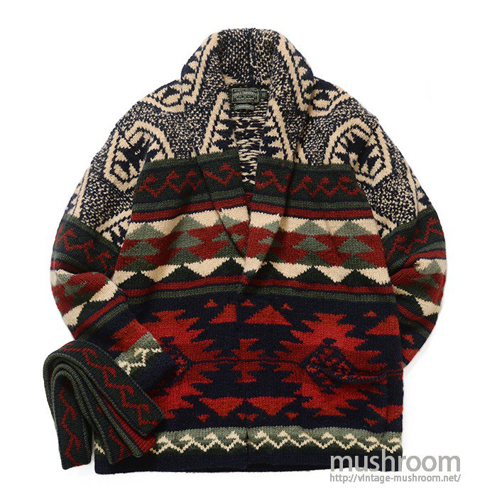 POLO COUNTRY NATIVE HAND-KNIT CARDIGAN( L/MINT )