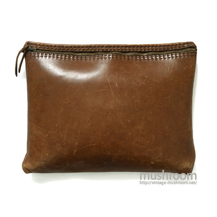 OLD LEATHER CLUTCH CASE