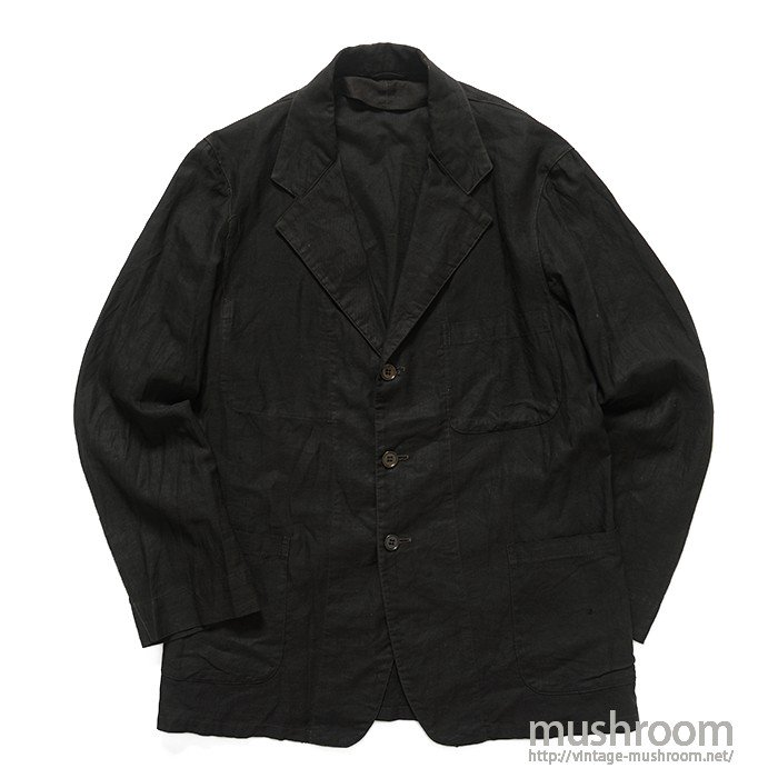 OLD BLACK COTTON SATIN WORK JACKET
