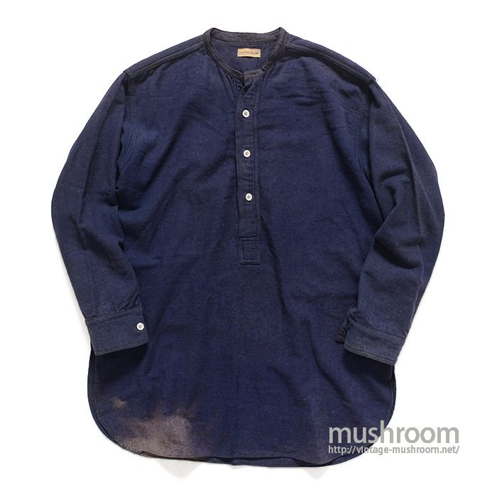 CUSTOM MADE PULLOVER INDIGO WOOL SHIRT